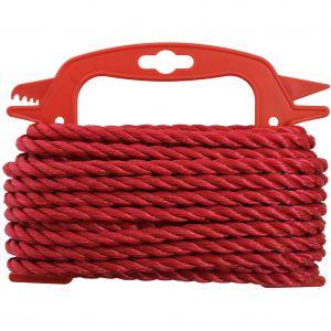 PP-köysi Stabilit Ø 8 mm punainen kierretty