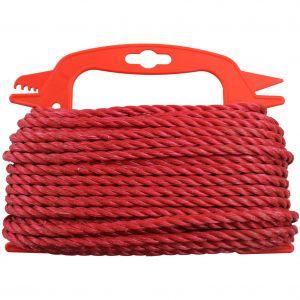 PP-köysi Stabilit Ø 6 mm punainen kierretty