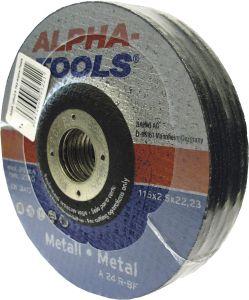 Katkaisulaikka Alpha-Tools Metalli A 24 R-BF; 125 x 2,5, T42, 10 kpl/pakk