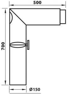 Kulmaliitosputki Aduro Musta 90 Astetta