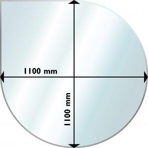 Suojalevy Lattialle Aduro Lasi Pisaranmuotoinen 1100 x 1100 mm