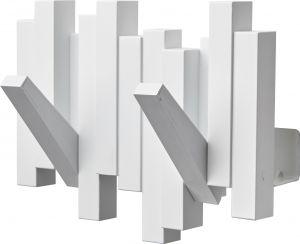 Naulakko Portaferm Organ Valkoinen 2-koukkua
