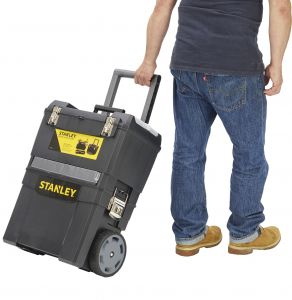 Työkalupakki pyörillä Stanley Mobile Workcenter