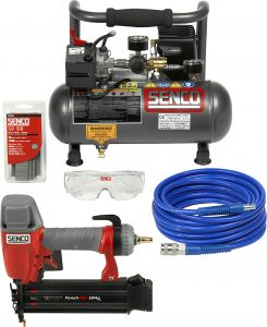 Naulain Senco FP18KIT + Valovirtakompressori PC1010 Paketti