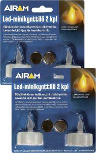 Setti LED Minikynttilä Airam 2 kpl
