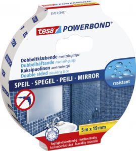 Asennusteippi Tesa 2-puolinen Powerbond Mirror Peileille 5 m x 19 mm