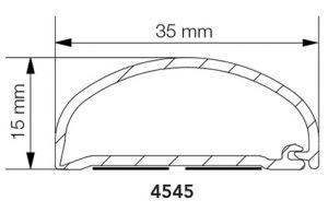 Johtokotelo Primo 4545 Cover it 15 x 35 x 2500 mm valkoinen