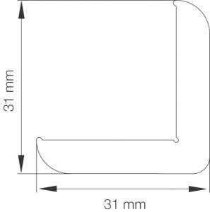 Kulmalista Primo 5005 31 x 31 x 2500 mm tammi