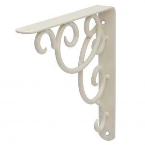 Hyllynkannatin Classic Curly Valkoinen 19 x 19 cm