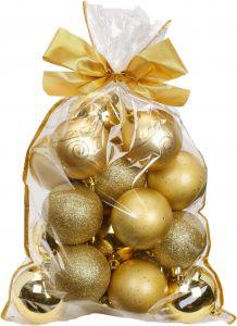 Joulupallo 20 kpl Ø 6 cm kulta