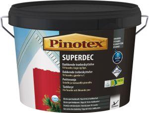 Peittosuoja Pinotex Superdec RAL 9010 Maalarinvalkoinen