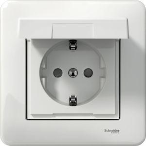 Pistorasia Schneider Exxact 1 -osainen Valkoinen IP44