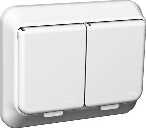 Pistorasia Schneider Exxact 2 -osainen Valkoinen IP44