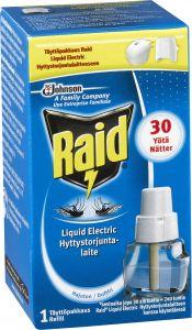 Täyttöpakkaus Raid Liquid Electric hyttyskarkotin