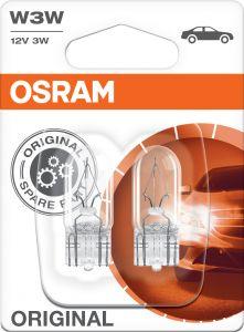 Polttimo Osram Original Vilkkuvalo 2821 W3W 2 kpl