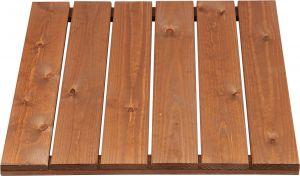 Puulaatta 60 x 60 cm ruskea sileä