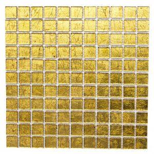 Mosaiikki Square Crystal Kulta 30 x 30 cm