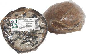 Kookospähkinän puolikas talitäytteellä