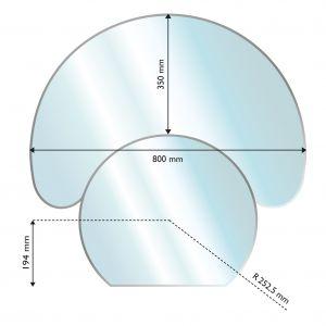 Suojalevy Lattialle Aduro Lasi Puolikuu 350 x 800 mm