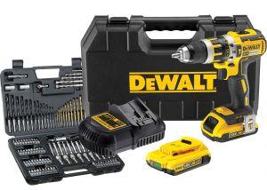 Paketti Akkuiskuporakone DeWalt DCD795D2-QW + Tarvikesarja DeWalt DT0109 109-osainen