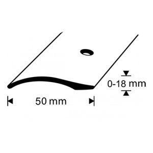 Eritasolista Dione 0-18 mm ruuvi hopea-anodisoitu 270 cm