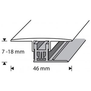 Saumalista Dione 46 mm harmaa tammi 93 cm