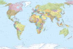 Fototapetti Komar World Map
