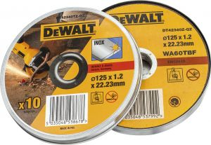 Katkaisulaikka DeWalt DT42340TZ 125 x 1,2 mm Inox  10 kpl