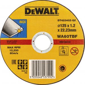 Katkaisulaikka DeWalt DT42340Z 125 x 1,2 mm Inox