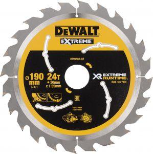 Pyörösahanterä DeWalt Extreme Runtime DT99562 190 x 30 mm 24T