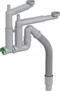 Keittiövesilukko Prevex Smartloc 2-altainen Mutterikiinnitys