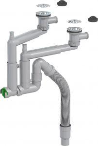 Keittiövesilukko Prevex Smartloc 2-altainen 70 mm Avosihti