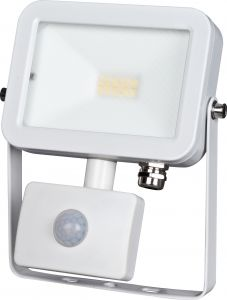 LED-valonheitin ElectoGEAR PIR 10 W Valkoinen