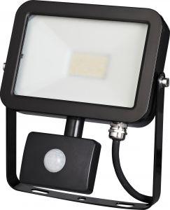 LED-valonheitin ElectoGEAR PIR 20 W Musta