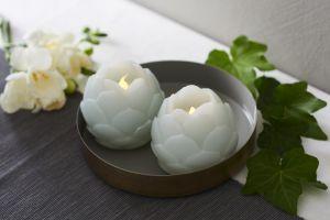 LED-kynttilä Sirius Helene kukka 2 kpl minttu
