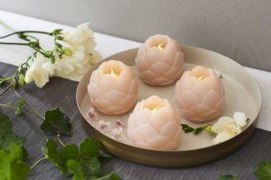LED-kynttilä Sirius Helene kukka 2 kpl persikka