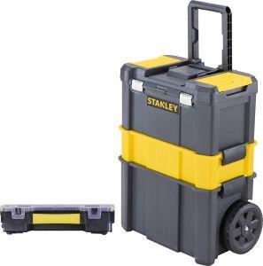 Työkalupakki Stanley Essential STST1-81320 Metallisalvoilla + Lokerikko