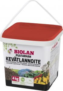 Puutarhan kevätlannoite Biolan 4 kg