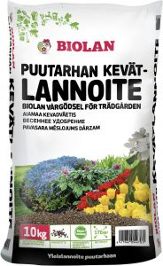 Puutarhan kevätlannoite Biolan 10 kg