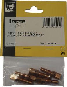 Kosketusputken pidin Toparc M6 MB 25 250 A 5 kpl