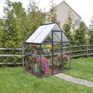 Kasvihuone Palram Hybrid 2,2 m² (185 x 121 cm) harmaa