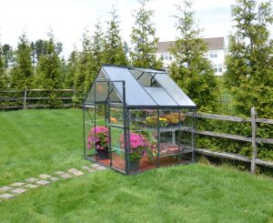 Kasvihuone Palram Hybrid 3,4 m² (185 x 184 cm) harmaa