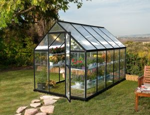 Kasvihuone Palram Hybrid 5,7 m² (185 x 310 cm) harmaa