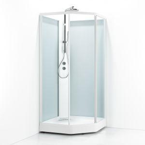 Suihkukaappi Svedbergs Ritual Premium-N valkoinen huurre
