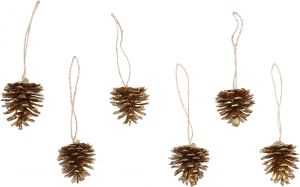 Kuusenkoriste käpy 15,5 cm 6 kpl
