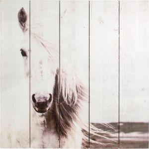 Sisustustaulu Horse Print On Wood