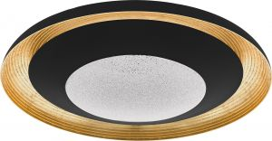 LED-paneeli Eglo Canicosa2 Ø 49,5 cm Musta-kulta