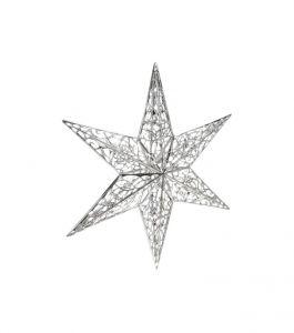 Filigraanitähti 35 cm kirkas hopea