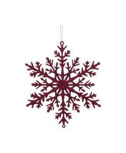 Lumikide glitteri 110 mm viininpunainen