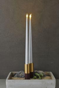 LED kruunukynttilä Sirius Carolin 2 kpl hopea